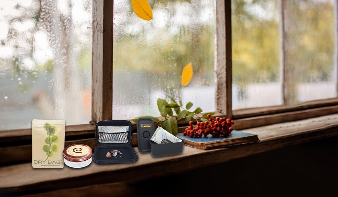 ฤดูฝน ดูแล เครื่องช่วยฟัง อย่างไรดี ใช้ สารดูดความชื้น