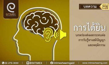 เครื่องช่วยฟัง การได้ยินความบกพร่องทางการได้ยิน บกพร่องส่งผลกระทบต่อการรับรู้ 1