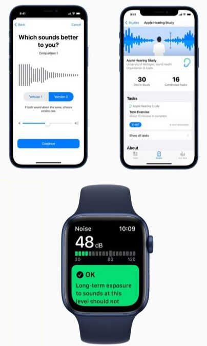 apple insight data hearing